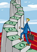 money stairs